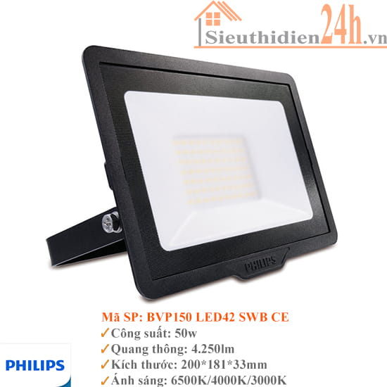 Đèn pha led 50w Philips BVP150 Led42 220-240V SWB CE